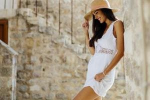 A casual summer dress is a must during bright sunny days.