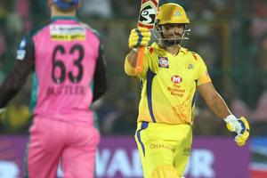 Suresh Raina scored a fifty for Chennai Super Kings during their Indian Premier League match against Rajasthan Royals on Friday.