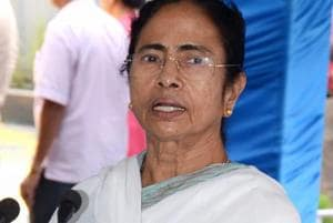 West Bengal chief minister Mamata Banerjee addresses the media at CM