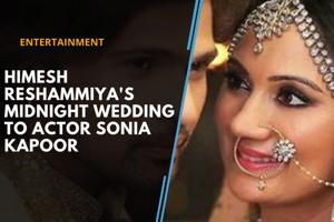 Himesh Reshammiya's midnight wedding to actor Sonia Kapoor