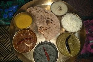 Garhwali thali.