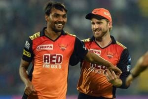 Sunrisers Hyderabad skipper Kane Williamson (right) has been very good at instilling confidence in young bowlers such as Sandeep Sharma (L) and that's the biggest factor in the side's good run in the 2018 Indian Premier League (IPL 2018), feels Yusuf Pathan.