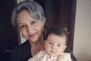 Sharmila Tagore with granddaughter Inaaya on Mother's Day.