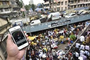 Testing how loud it's at the Dadar flower market in Mumbai on August 4, 2016.