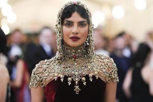 Actor Priyanka Chopra arrives at the Metropolitan Museum of Art Costume Institute Gala (Met Gala).