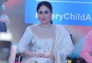 UNICEF Goodwill Advocate Kareena Kapoor Khan at a panel discussion on neonatal health, in Delhi.