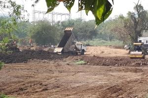 Work in progress at the 30-hectare plot in Aarey Colony.