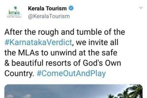 Before Kerala Tourism withdrew the tweet, it had been retweeted almost 5,500 times and liked by almost 9,000 people.
