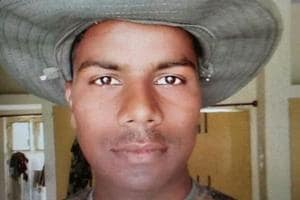 Border Security Force constable Devendra Singh, who was killed in Pakistan ceasefire violation on Monday night.
