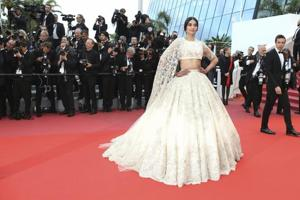 Actor Sonam Kapoor ditched predictable gowns and pants suits, instead opting to surprise everyone with a dreamy ivory lehenga by Australian couturiers, Ralph & Russo.