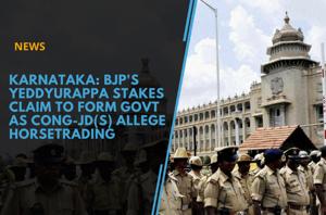 Karnataka: BJP's Yeddyurappa stakes claim to form govt as Cong-JD(S) allege...