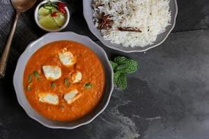 Shahi Paneer with cumin rice.
