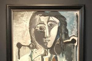 Picasso's 1964 portrait of a woman with a cat, 'Femme au chat assise dans un fauteuil,' was part of the same exhibition at Christie's, but was pulled from the auction by mutual agreement with the seller.