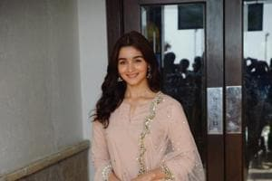 Alia Bhatt during a press conference to promote her Raazi.