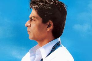 Shah Rukh Khan in the poster for Swades.