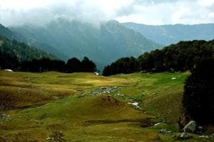A view of Bashleu in Tirthan Valley in Great Himalayan National Park in Kullu district.