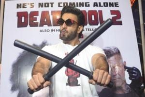Actor Ranveer Singh at the special screening of Hollywood film Deadpool 2.
