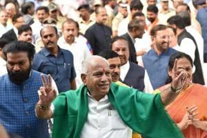 BJP leaders BS Yeddyurappa was sworn in as Karnataka's new chief minister on Thursday morning.