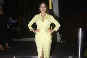 Nushrat Bharucha poses for the camera at her birthday party on        Thursday.