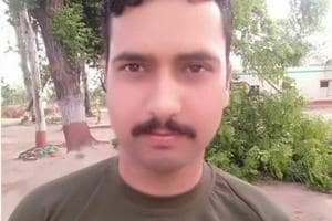 BSF constable Sita Ram Upadhyay who was killed in Pakistani fire on Friday morning.  Upadhyay had joined the force in 2011.