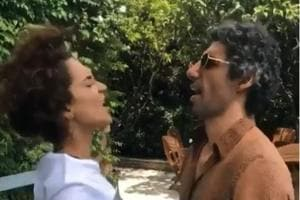 Kangana Ranaut and Jim Sarbh were seen at the Cannes Film Festival recently.