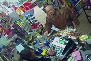 In this Feb 27, 2018 file grab taken from CCTV video provided by ITN, former spy Sergei Skripal shops at a store in Salisbury, England. A UK hospital has announced on May 18, 2018 that ex-spy Sergei Skripal has been discharged, more than 2 months after poisoning with nerve agent.