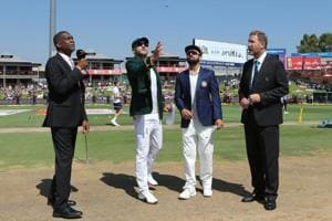 Faf du Plessis (c) of South Africa and Virat Kohli (captain) of India at the toss during the first day of the second Test at the SuperSport Park in Centurion, South Africa on January 13, 2018. ICC may do away with the coin toss.