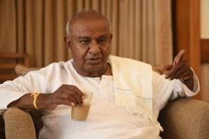 File photo of JD(S) leader HD Deve Gowda.