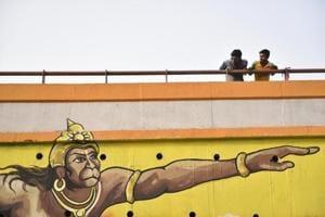 Photos: A mural makeover for Delhi's Hanuman Mandir flyover