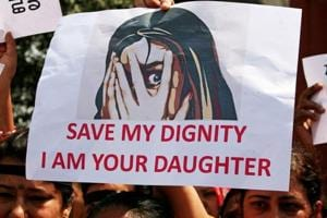 People protest demanding punishment against child rape.