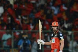 Royal Challengers Bangalore batsman AB De Villiers scored his sixth fifty of this season's IPL.
