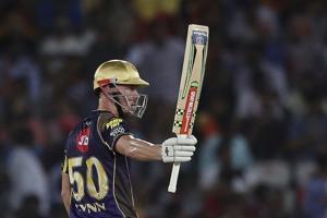 Chris Lynn slammed an aggressive fifty as Kolkata Knight Riders beat Sunrisers Hyderabad in their last league game.