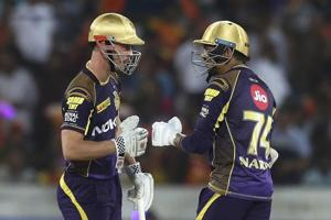 Chris Lynn's aggressive fifty helped Kolkata Knight Riders chase down 173 and win the game by five wickets against Sunrisers Hyderabad to seal a spot in the play-offs.
