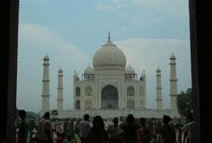 A view of the Taj Mahal. The heritage site is currently the subject of a legal battle between the UP Sunni Central Waqf Board and the Archaeological Survey of India.