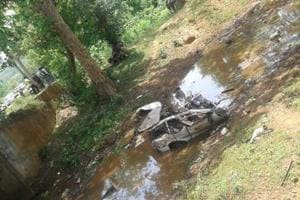 Officials said the Maoists looted two Insas rifles, two SLRs and two AK-47 and other equipments from the spot.
