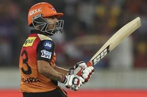 Shreevats Goswami, who made a 26-ball 35 against KKR at the top, said the losses would not affect SRH's momentum in the IPL 2018 play-offs.