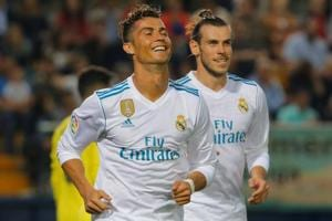 Cristiano Ronaldo (L) and Gareth Bale were both on target in Real Madrid's 2-2 draw vs Villarreal on Saturday.