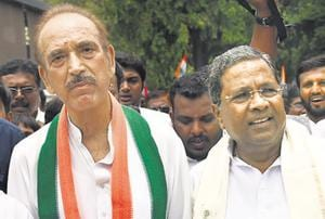 Experienced Congress leaders Ghulam Nabi Azad, 69, and Ashok Gehlot, 67, helped outfox the BJP by offering support to the JD(S) with HD Kumaraswamy as the chief minister.