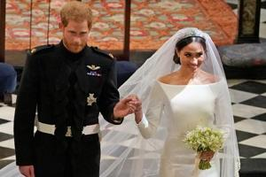 Prince Harry and Meghan Markle in St George