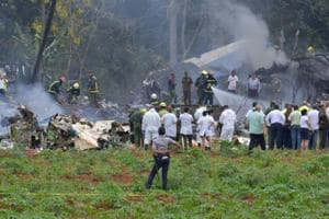 An investigation has been launched into Friday's crash (pictured) of the nearly 40-year-old Boeing 737-200 leased to the Cuban national carrier Cubana de Aviacion by a Mexican company.