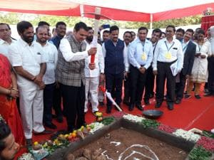 The foundation stone was laid on Monday morning.