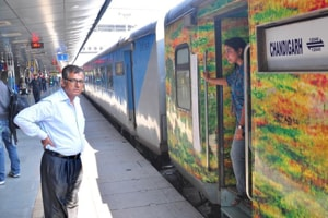 The price hike is because of the dynamic pricing system, under which base fares jump by 10% for every 10% of seats booked in Shatabdi, with a cap of 50% hike in the original fare.