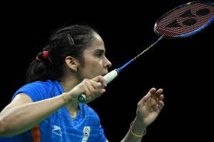 Indian badminton ace Saina Nehwal won her women's singles match in Uber Cup in Bangkok on Monday.