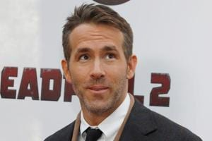 Actor Ryan Reynolds poses on the red carpet during the premiere of Deadpool 2 in Manhattan, New York.