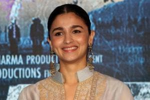 Actress Alia Bhatt at a promotional event for the film Raazi, directed by Meghna Gulzar.