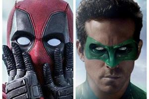 Ryan Reynolds' two superheroic efforts, Deadpool and Green Lantern.