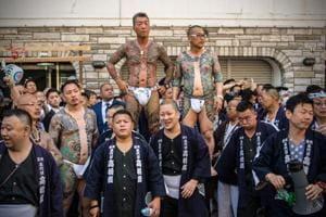 Photos: Costumes, Geishas and Yakuza at Japan's Sanja Matsuri festival