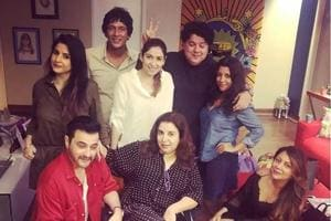 Farah Khan poses with her gang of friends.
