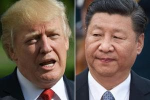 A combination of file photos of US President Donald Trump and Chinese President Xi Jinping. There was a touch of Trump's prime time show The Apprentice in the flourish with which he declared that he would extend a life-saver to the Chinese telecom giant ZTE which was on a death watch after the impositions of US sanctions by his own administration.