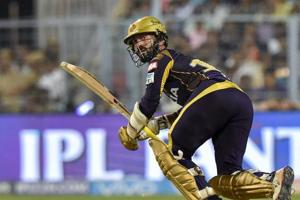 Dinesh Karthik helped Kolkata Knight Riders reach a good score after a poor start against Rajasthan Royals in the IPL2018 Eliminator
